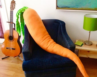 Carrot Pillow - Giant 4 Foot Long Body Pillow for Loneliness - Monster Plush