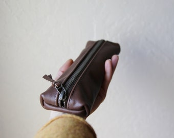 Leather Pencil Case // Zipper Pouch
