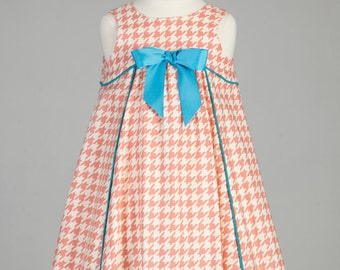 Little Girl Dress, Special Occasion Girls Dress, Vintage Inspired, Young Girls Dress, Girls Cotton Dress
