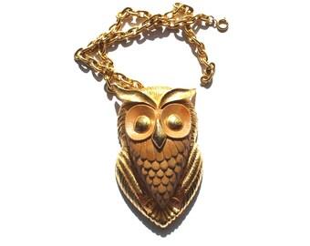 Razza 1970 Vintage Owl Necklace