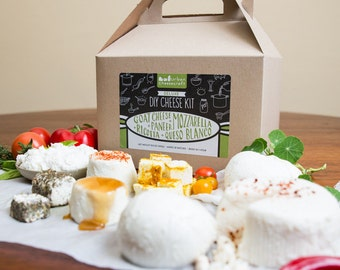Deluxe DIY Cheese Kit, Make Mozzarella, Ricotta, Goat Cheese and more