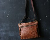 Vintage Leather Purse Tooled Design Bohemian Fashion Expandable Strap Fossil From Nowvintage on Etsy
