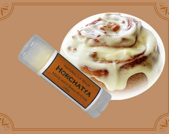 HORCHATTA (CINNAMON BUN) Lip Balm made with Shea Butter - .15oz Oval Tube
