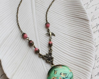 Bird Locket Necklace