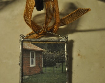 Sunday Afternoon - photograph soldered charm