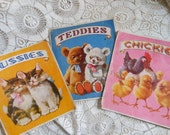 3 Children's Advertising Picture Books Bears Chicks Vintage at Quilted Nest