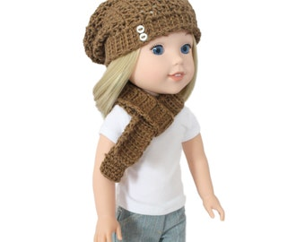 """Download Now - CROCHET PATTERN 13"""" - 14.5"""" Doll Madison Slouchy Beanie Pattern"""