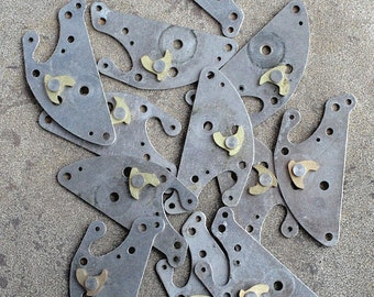 Vintage selection of clock parts -- set of 12 -- D2