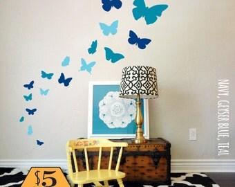 BUTTERFLY Wall Decal / butterflies wall decal, wall decal butterfly, wall decals nursery, kids wall decal, butterfly stickers, baby decal
