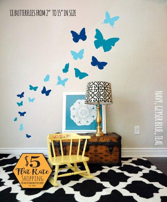custom 4 color butterflies