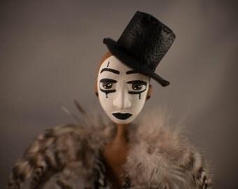 Travis, Melandolly Paper Clay, festive fancy Doll