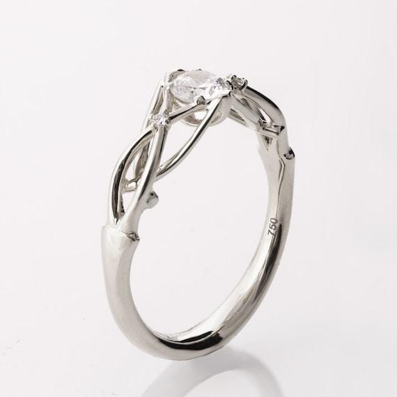 Celtic Engagement Ring Platinum Engagement Ring Unique