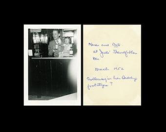 "Vintage Photo ""Daddy's Footsteps?"" Caption Handwritten Writing Snapshot Odd Weird Antique Black & White Photograph Ephemera Vernacular - 80"