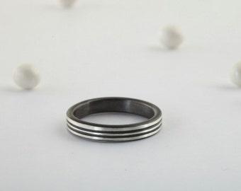 Handmade Silver Men's Ring, Handmade Ring, Men's Ring, Silver Men's Ring