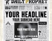 Personalized Daily Prophet PDF | 1 Daily Prophet Front Page | Harry Potter Birthday Announcement | You Provide The Info and Photo