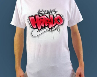 Airbrush T shirt with name | Graffiti Style