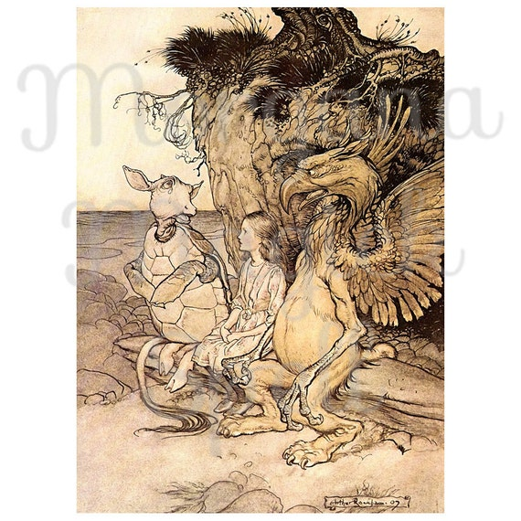 ALICE in WONDERLAND- Very CURIOUS  Arthur Rackham