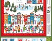 Wonderland Advent Calendar Panel, The Henley Studio for Andover Fabrics, 100% Cotton Fabric, TP-1466-1