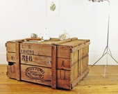 vintage crate, industrial coffee table, trunk coffee table, rustic coffee table, crate coffee table, wood shipping crate, storage trunk