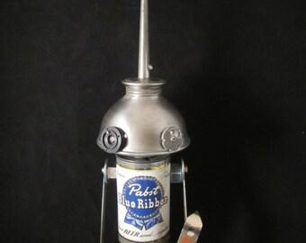 Bottoms Up Bot - found object robot sculpture assemblage by Cheri Kudja with Bitti Bots