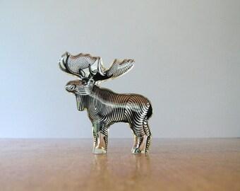 Mid Century Palatnik Lucite Op Art Moose Sculpture / Figurine