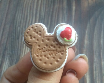 Mickey Mouse Cake Adjustable Ring