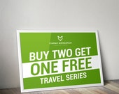 3 TRAVEL Prints for the PRICE of 2