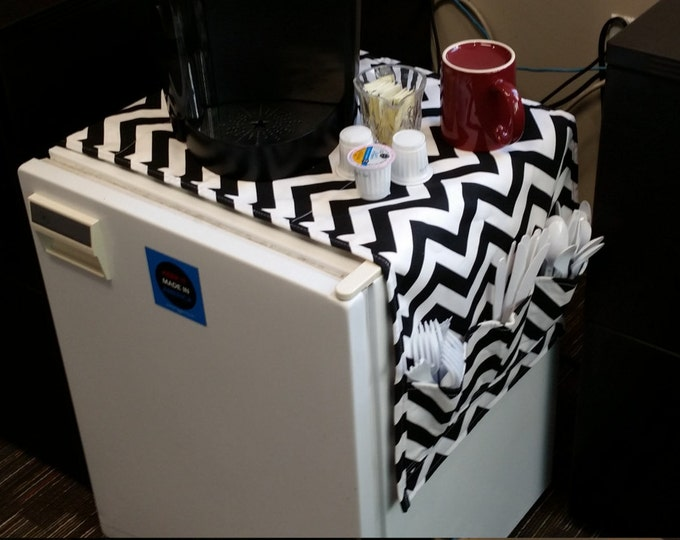 Featured listing image: 45  Inch Dorm Room Table Runner Pocket Organizer Fridge Refrigerator Storage Pouch High School Graduation College Gift Idea CoffeeKidsNDolls
