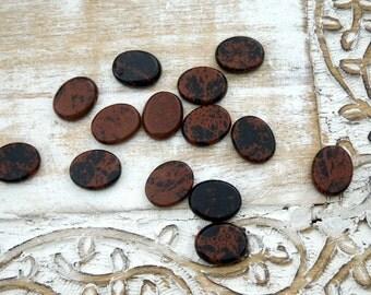 Mahogany Obsidian Palm Stones - Obsidian Worry Stones - Meditation Stones - Reiki Crystals - Healing Stones - Natural Stones Crystals