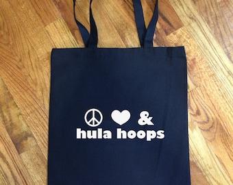 Peace Love and Hula Hoops - Tote Bag