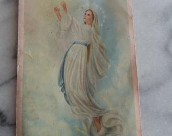 B416) Vintage Original The Marylike Standards the Marylike Crusade Holy Card