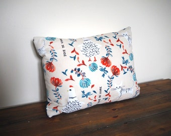 Beautiful Floral Cushion / Pillow. Decorative Pillow Cover 13x9 inch Cushion Cover