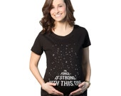 The Force Is Strong In This One T-Shirt adorable, pregnancy, shirt, geeky, mom, pregnancy, geekery, baby shower, gift, clothes, S-2XL