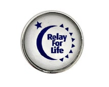 S-597 Relay For Life 20mm for Ginger Snap-Noosa Snap-Chunk Snap Charm Jewelry