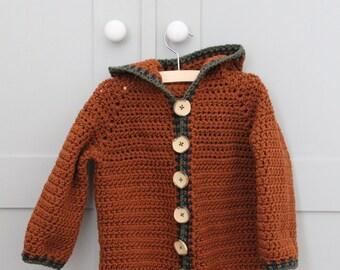 Crochet pattern Hooded Baby Jacket