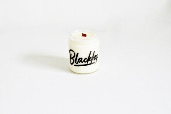 Eucalyptus + Mint Vegan Soy Candle / Cedar Wood Wick / Blacktop
