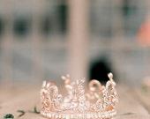 Rose Gold Tiara Crystal Wedding Tiara Leaf Bridal Crown Wedding Diadem Swarovski Bridal Tiara AURORA TIARA As Seen on Style Me Pretty