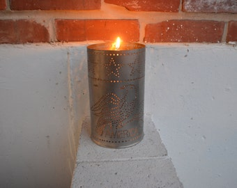 Punch Tin Candle Holder