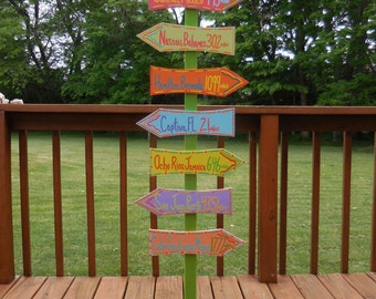 Custom Directional Sign Post With Stand (Add-on)