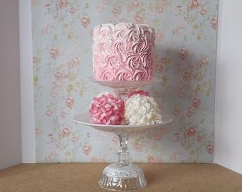 White Cake Stand / Tiered cake stand / Cupcake Stand / Wedding Cake Stand /Baby Shower Cake / Vintage Cake Stand