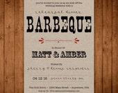 I Do BBQ Rehearsal Dinner Invitation. Printable Vintage Rehearsal Dinner Invite. Rustic Rehearsal Dinner. Country DIY Wedding