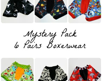 Mystery Pack of Childrens Boxerwear - 6 Pairs Custom Made to Order