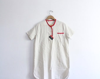 Minimal Long 70s Tunic Shirt