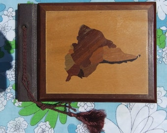 "Antique Photo Album Scrapbook Brazil ""Fabrica De Albuns"" Rosirio from Rio De Janeiro Brasil Brasileira Wooden Photo Album UNUSED"