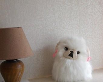 Pekingese, Pekingese dog, stuffed animal, stuffed dog, dog toy, fluffy dog, puppy toy, cute dog, stuffed pekingese, IVORY MASK & PIGTAILS