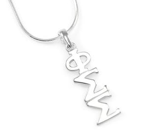 Phi Sigma Sigma Sterling Silver Lavaliere // Sorority Gifts // Big & Little Gifts // Sorority Lavalier // Greek Accessories // Gifts for her