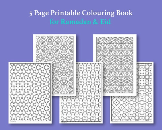Islamic Pattern Colouring Book : Islamic Pattern Colouring Book: Pattern lesson.