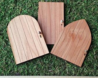 DIY Blank Large Rounded Fairy Garden Door - Miniature Garden Accessory, Fairy Door, Tooth Fairy Door, Kids Crafts, Fairy Party, Gnome Door