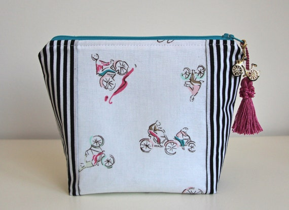 Bikes Makeup Bag Pencil Case Travel Organizer