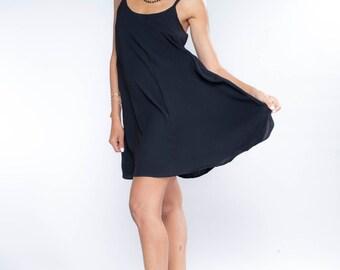 EASTER GIFTS, Sundress, Black Mini Dress, Sleeveless Dress, Summer Dress, A Line Dress, Bridesmaid Dress, Elegant Dress, For Her, Gifts